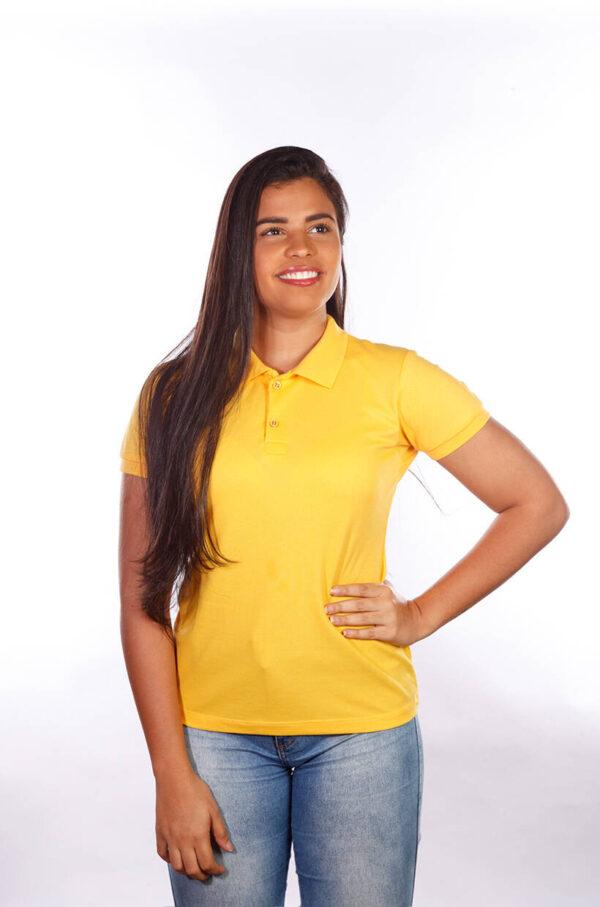 camisa-polo-para-empresa-classica-feminina-amarela-detalhe