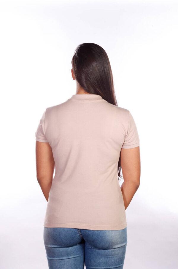 camisa-polo-para-empresa-classica-feminina-caqui-costas