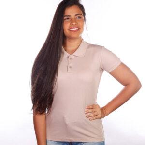 camisa-polo-para-empresa-classica-feminina-caqui-detalhe