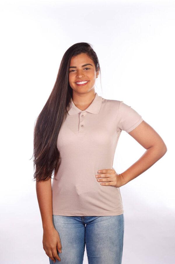 camisa-polo-para-empresa-classica-feminina-caqui-frente