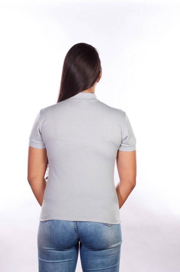 camisa-polo-para-empresa-classica-feminina-cinza-costas