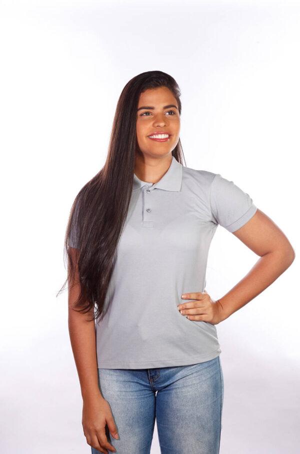 camisa-polo-para-empresa-classica-feminina-cinza-detalhe