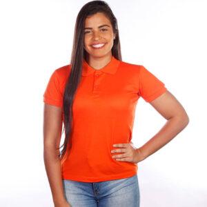 camisa-polo-para-empresa-clássica-feminina-laranja-frente