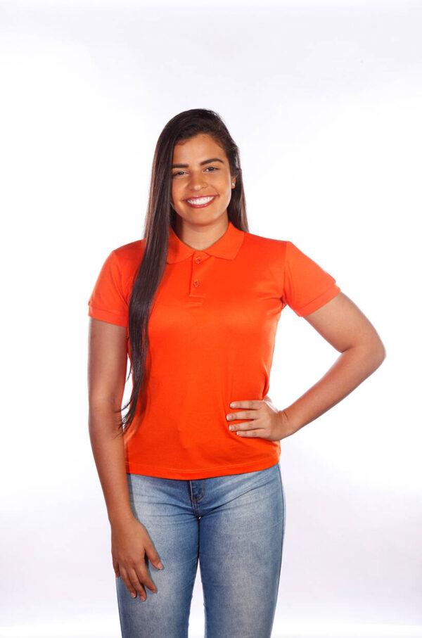 camisas-polo-para-empresa-classica-feminina-laranja-frente