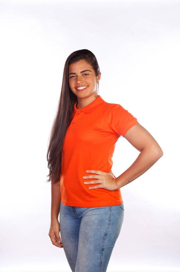 camisas-polo-para-empresa-classica-feminina-laranja-lado