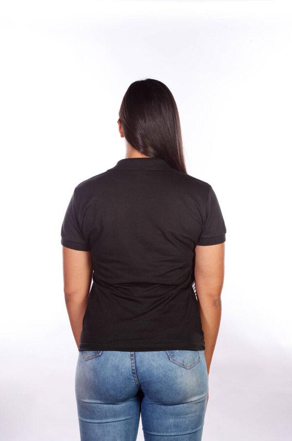 camisa-polo-para-empresa-classica-feminina-preta-costas