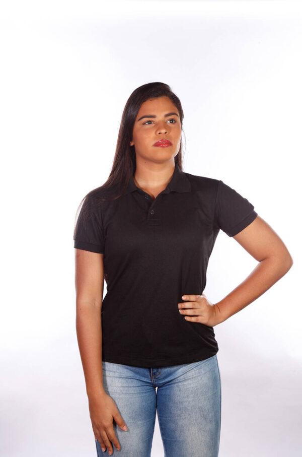 camisa-polo-para-empresa-classica-feminina-preta-detalhe