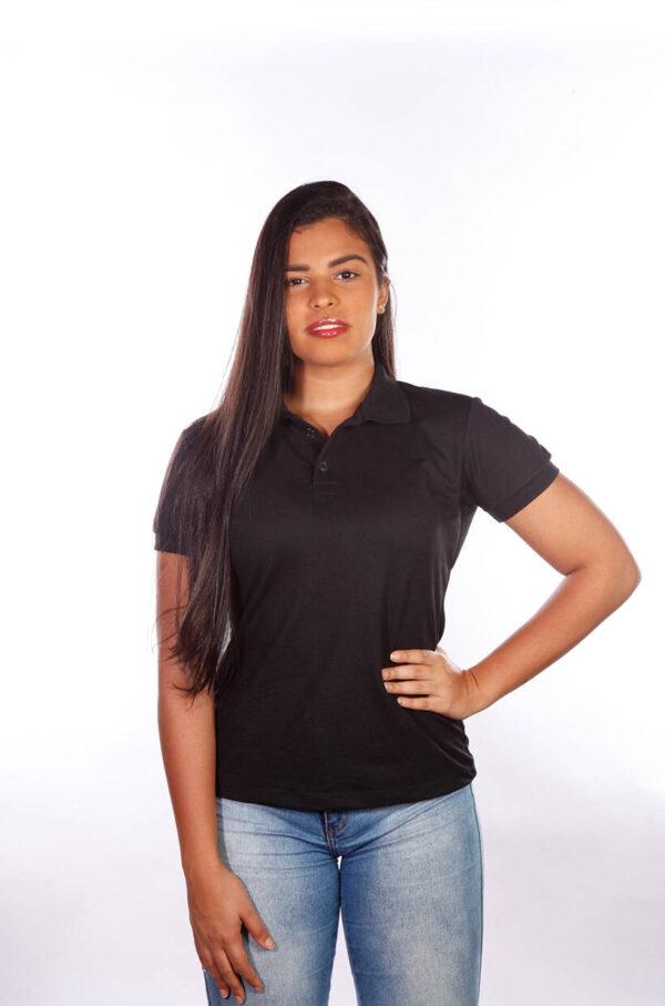 camisa-polo-para-empresa-classica-feminina-preta-frente