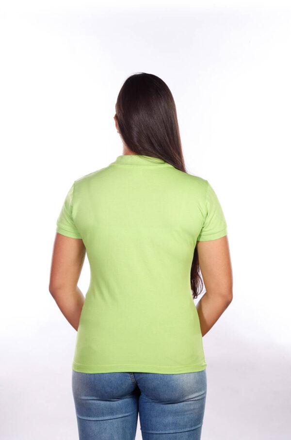 camisa-polo-para-empresa-classica-feminina-verde-limão-costas
