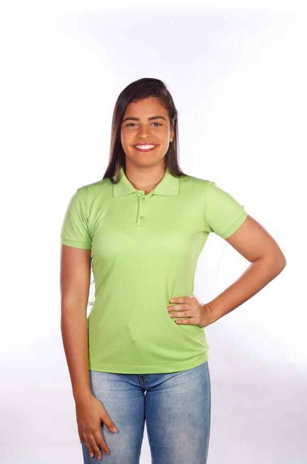 camisa-polo-para-empresa-classica-feminina-verde-limão-frente