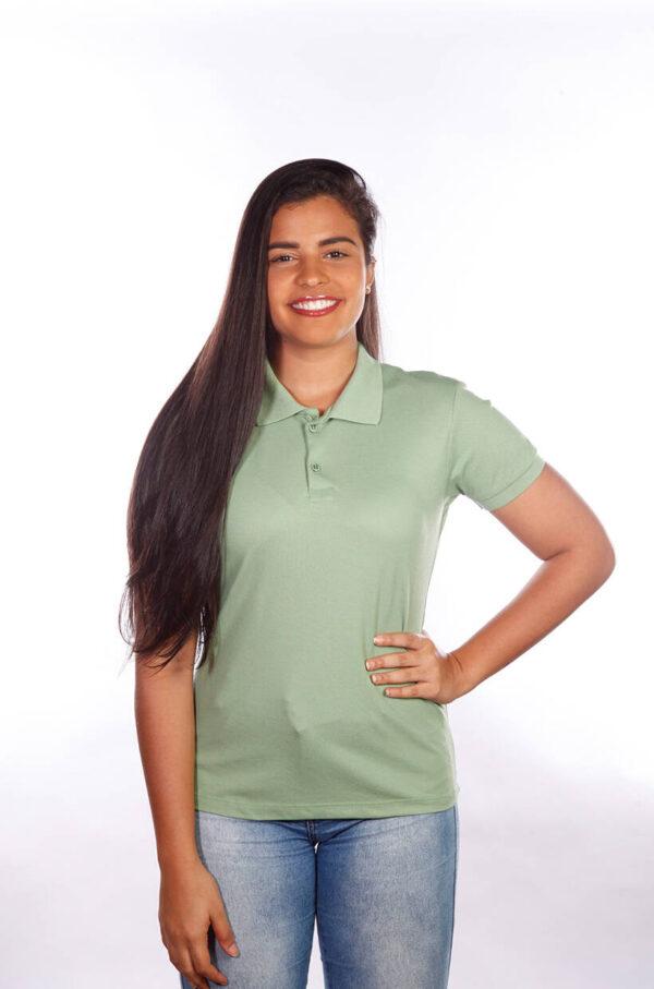 camisa-polo-para-empresa-classica-feminina-verde-frente