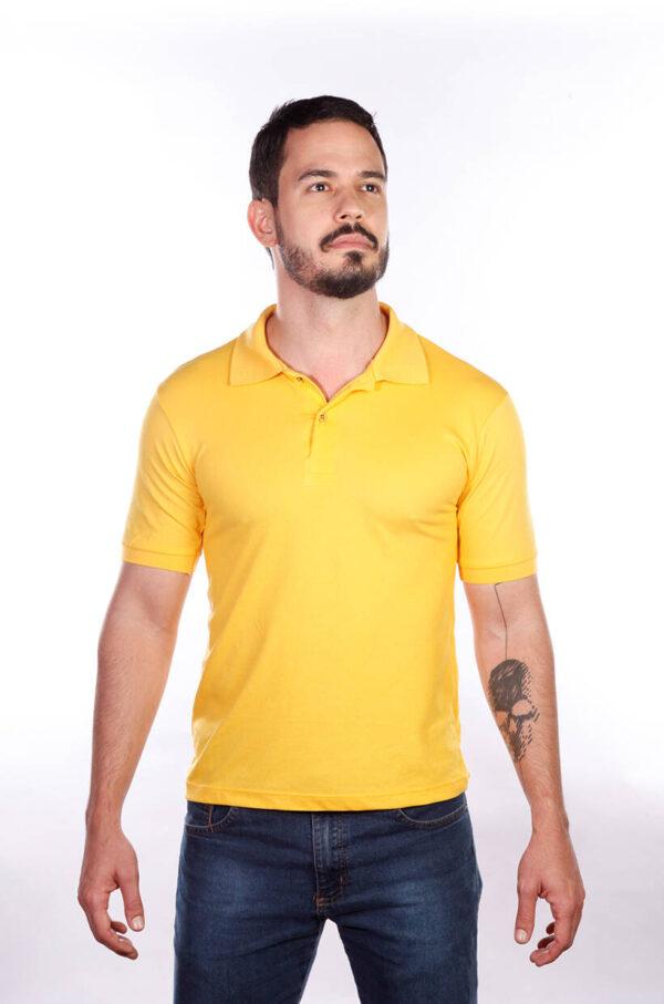 camisa-polo-para-empresa-classica-masculina-amarela-detalhe