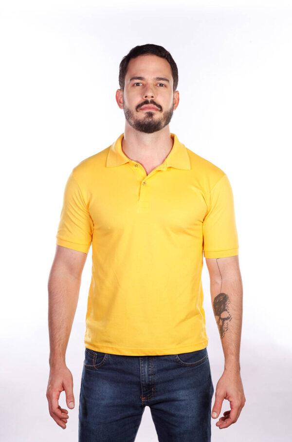 camisa-polo-para-empresa-classica-masculina-amarela-frente