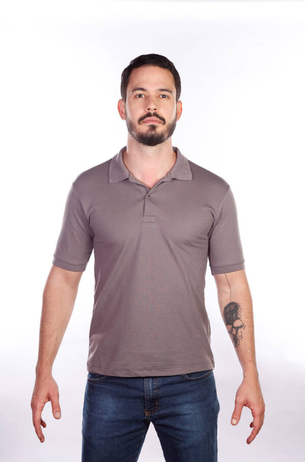 camisa-polo-para-empresa-classica-masculina-grafite-frente