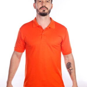 camisa-polo-para-empresa-classica-masculina-laranja-frente