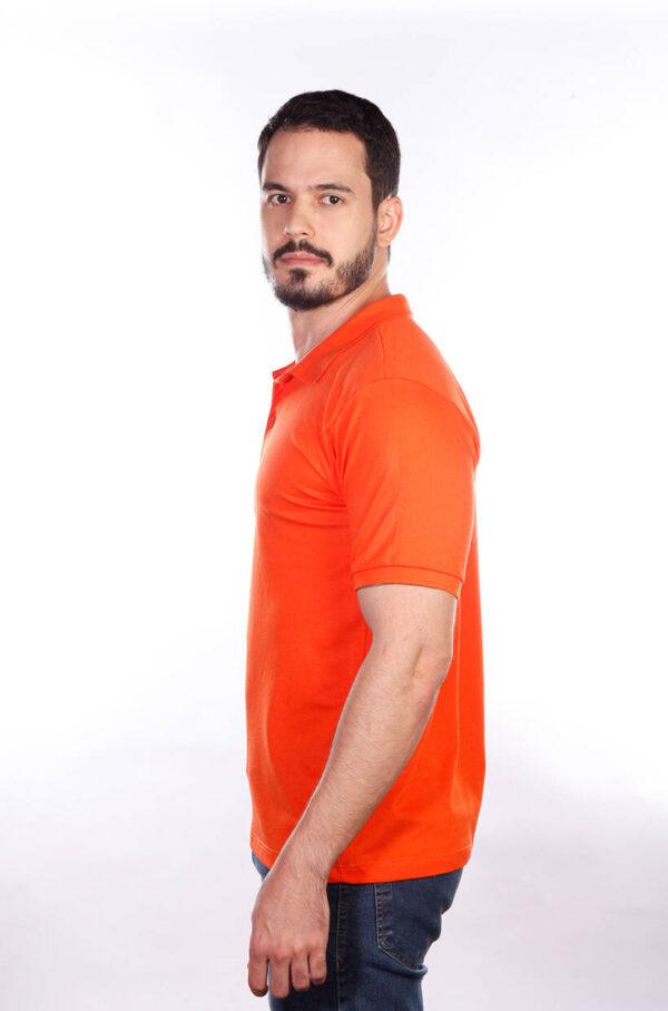 camisa-polo-para-empresa-classica-masculina-laranja-lado