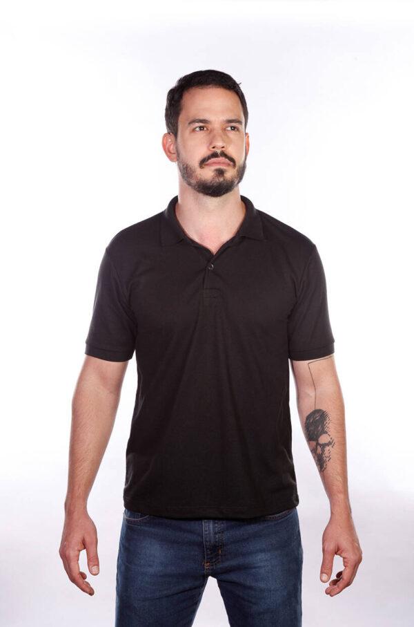 camisa-polo-para-empresa-classica-masculina-preta-detalhe