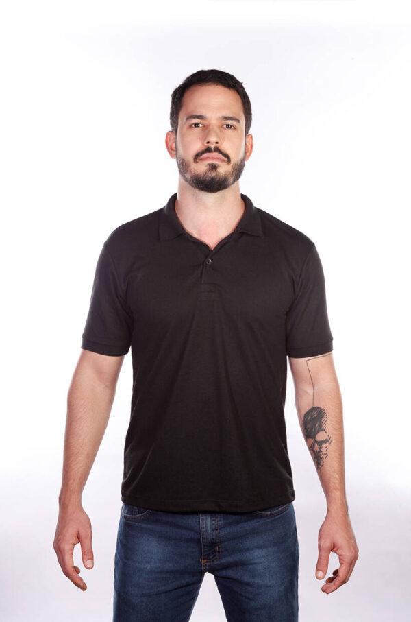 camisa-polo-para-empresa-classica-masculina-preta-frente