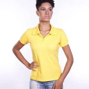 camisa-polo-para-empresa-ecoline-feminina-amarela-detalhe