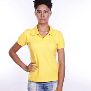 camisa-polo-para-empresa-ecoline-feminina-amarela-frente