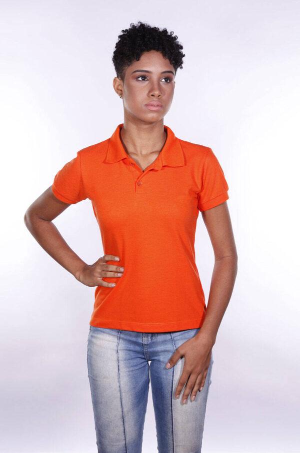 camisa-polo-para-empresa-ecoline-feminina-laranja-detalhe
