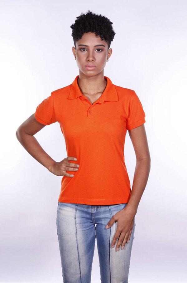camisa-polo-para-empresa-ecoline-feminina-laranja-frente