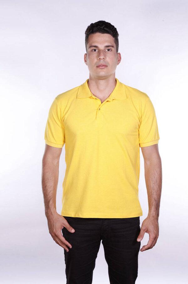 camisas-polo-para-empresa-ecoline-masculina-amarela-frente