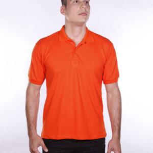camisa-polo-para-empresa-ecoline-masculina-laranja-detalhe