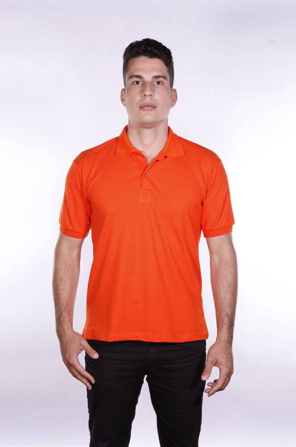 camisa-polo-para-empresa-ecoline-masculina-laranja-frente