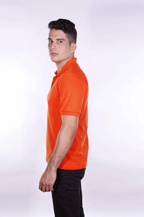 camisa-polo-para-empresa-ecoline-masculina-laranja-lado