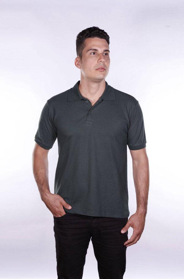camisa-polo-para-empresa-ecoline-masculina-verde-musgo-detalhe