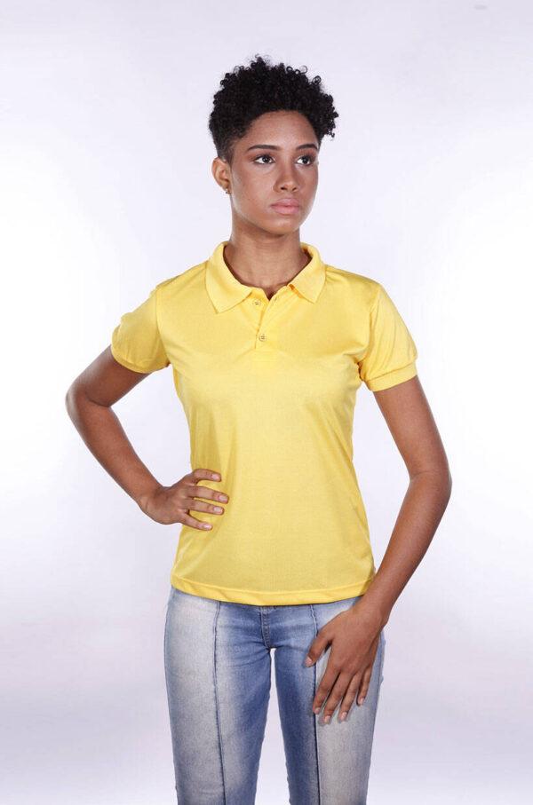 camisa-polo-para-empresa-poliester-feminina-amarela-detalhe