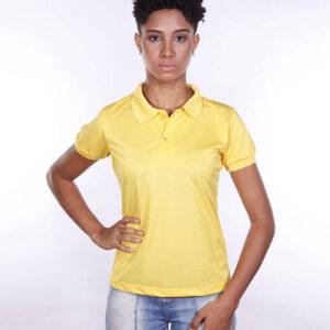 camisa-polo-para-empresa-poliester-feminina-amarela-frente