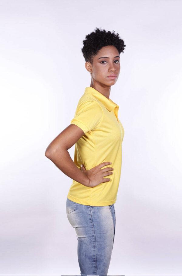 camisa-polo-para-empresa-poliester-feminina-amarela-lado-2