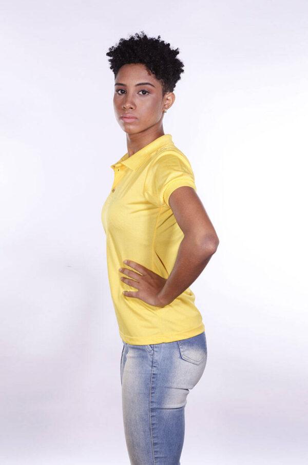 camisa-polo-para-empresa-poliester-feminina-amarela-lado