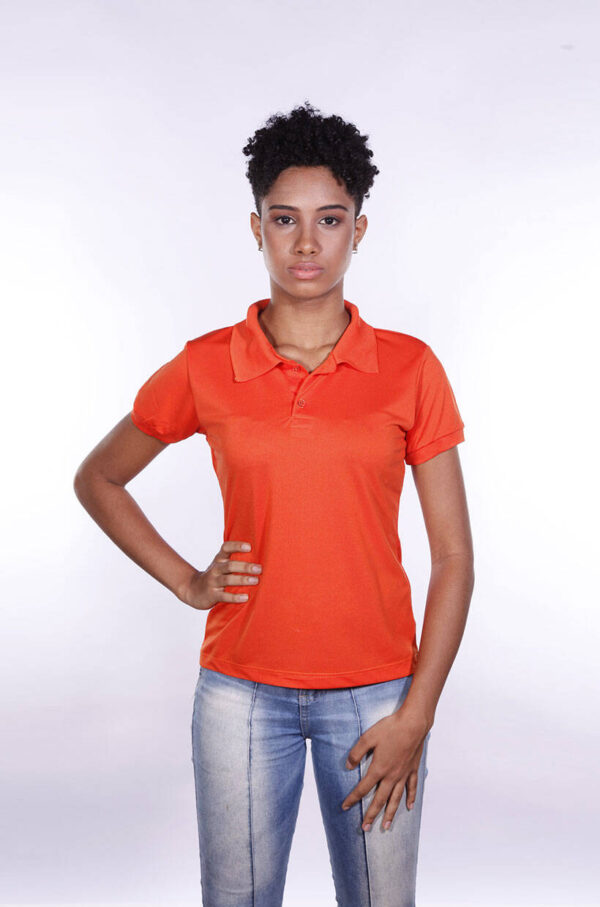 camisas-polo-para-empresa-poliester-feminina-laranja-frente
