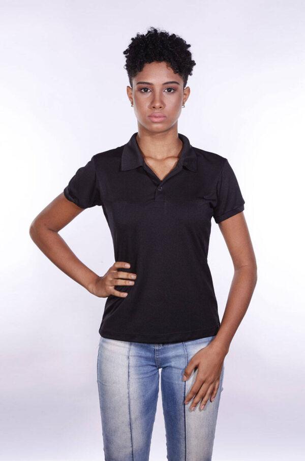 camisa-polo-para-empresa-poliester-feminina-preta-frente