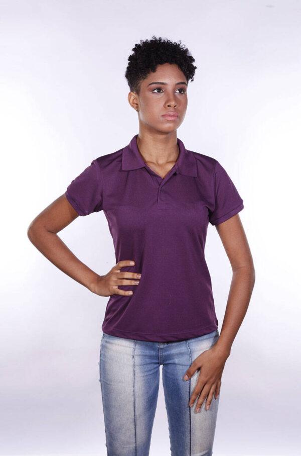 camisa-polo-para-empresa-poliester-feminina-roxa-detalhe