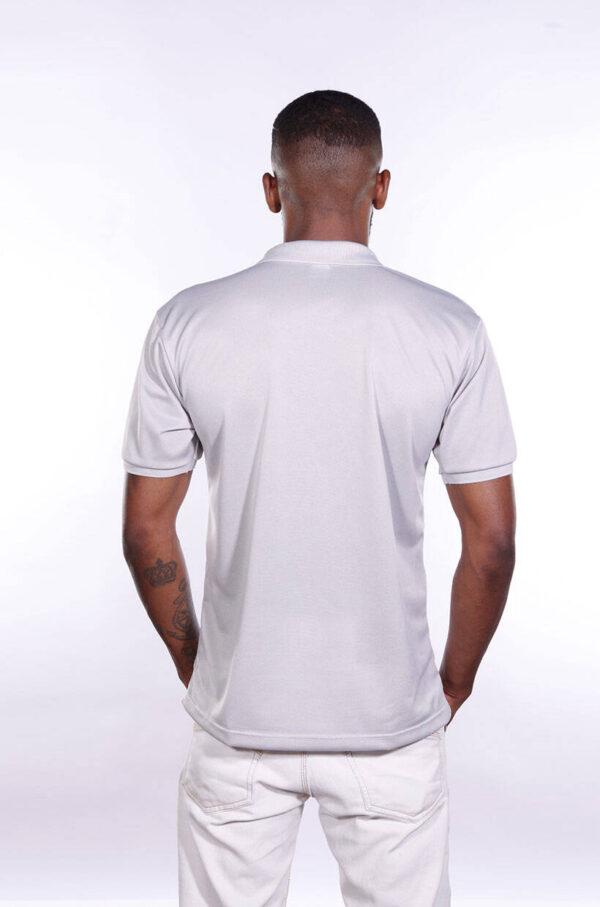 camisa-polo-para-empresa-poliester-masculina-cinza-claro-costas