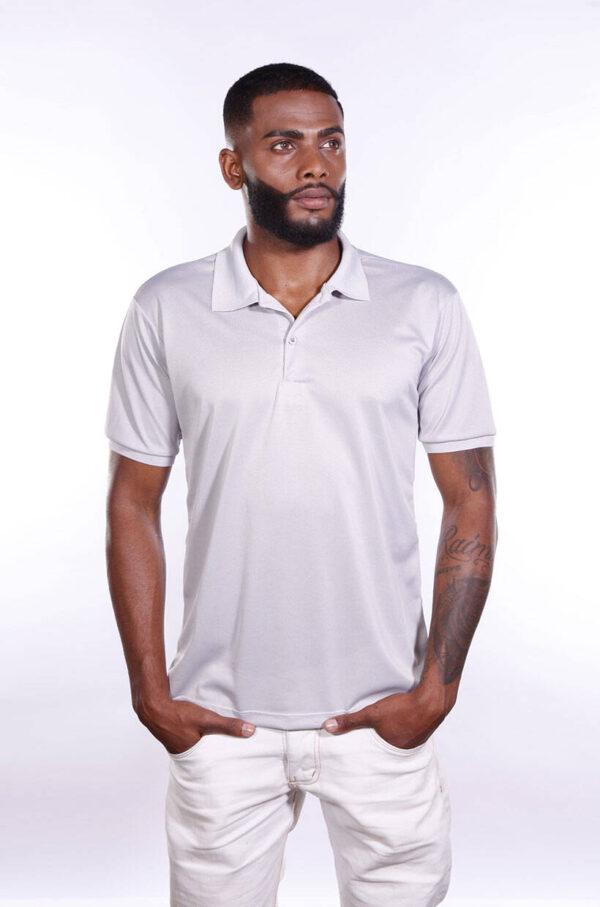 camisa-polo-para-empresa-poliester-masculina-cinza-claro-detalhe
