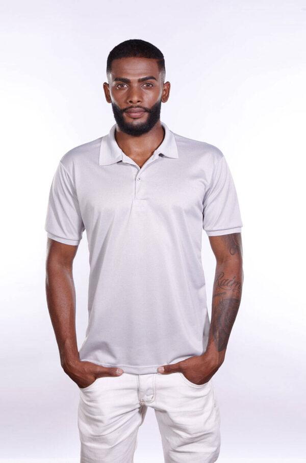 camisa-polo-para-empresa-poliester-masculina-cinza-claro-frente