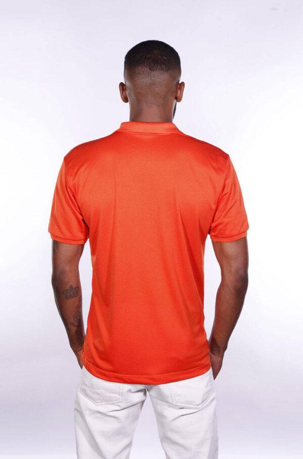camisa-polo-para-empresa-poliester-masculina-laranja-costas