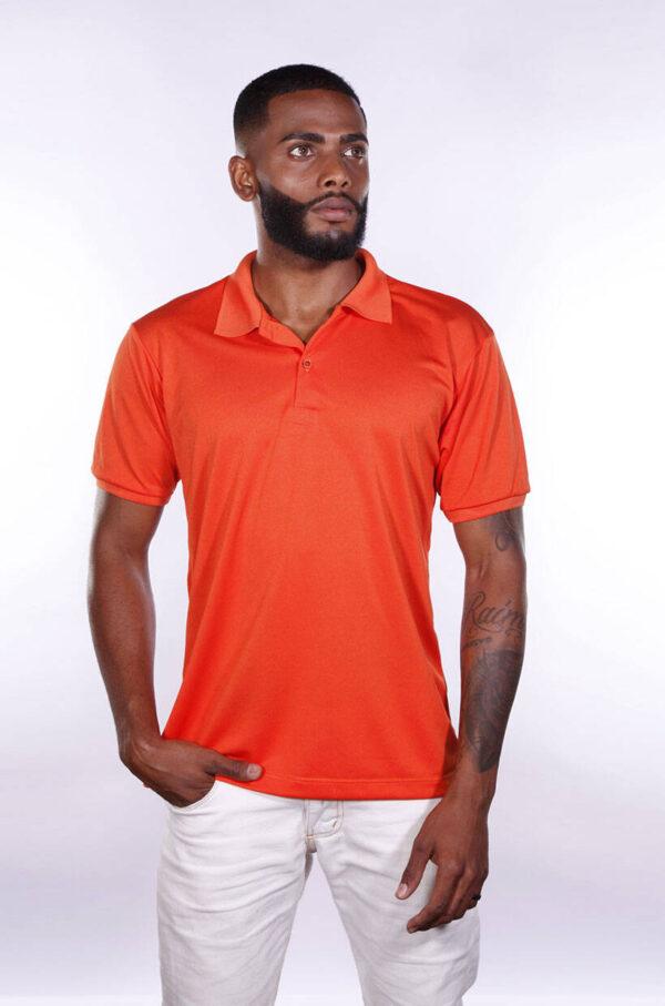 camisa-polo-para-empresa-poliester-masculina-laranja-detalhe
