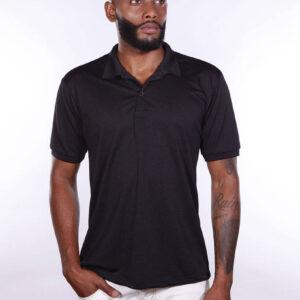 camisa-polo-para-empresa-poliester-masculina-preta-detalhe