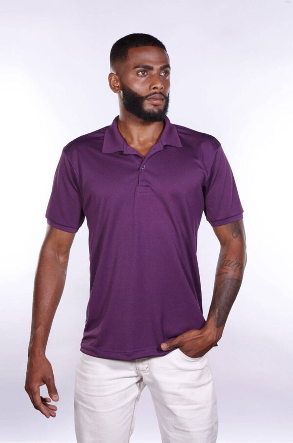 camisa-polo-para-empresa-poliester-masculina-roxa-detalhe