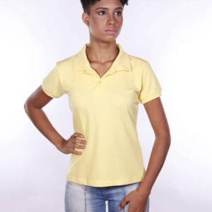 camisa-polo-para-empresa-ecoline-feminina-amarela-clara-detalhe