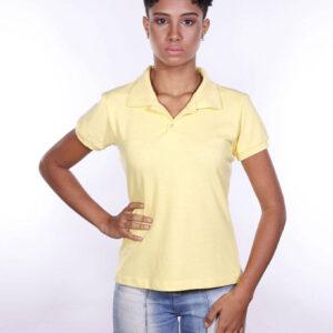 camisa-polo-para-empresa-ecoline-feminina-amarela-clara-frente