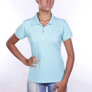 camisa-polo-para-empresa-ecoline-feminina-turquesa-detalhe