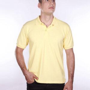 camisa-polo-para-empresa-ecoline-masculina-amarela-clara-detalhe
