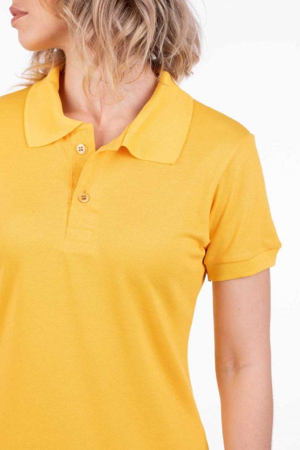 camisa-polo-para-empresa-viscocel-feminina-amarela-detalhe